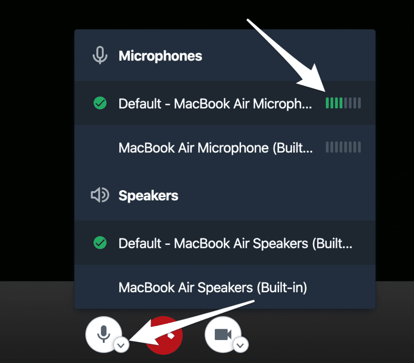 Large Graphic of checking Microphone levels